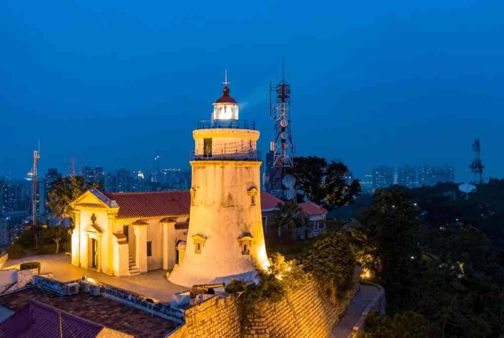 Lighthouse at Guia Hill in Macau