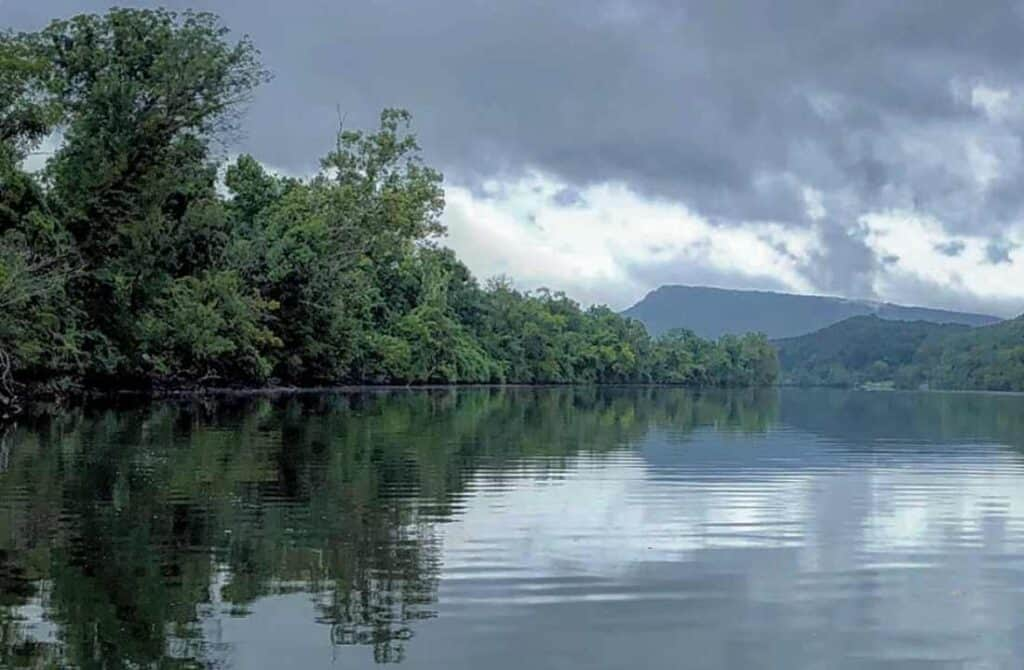 Tennessee River Gorge Scenic view from the water
