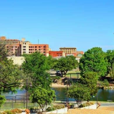 San Angelo oTexas with Blue skies